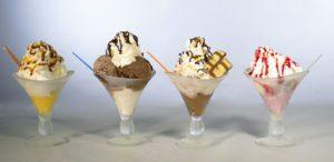 Copas de helados elaboradas de forma artesanal